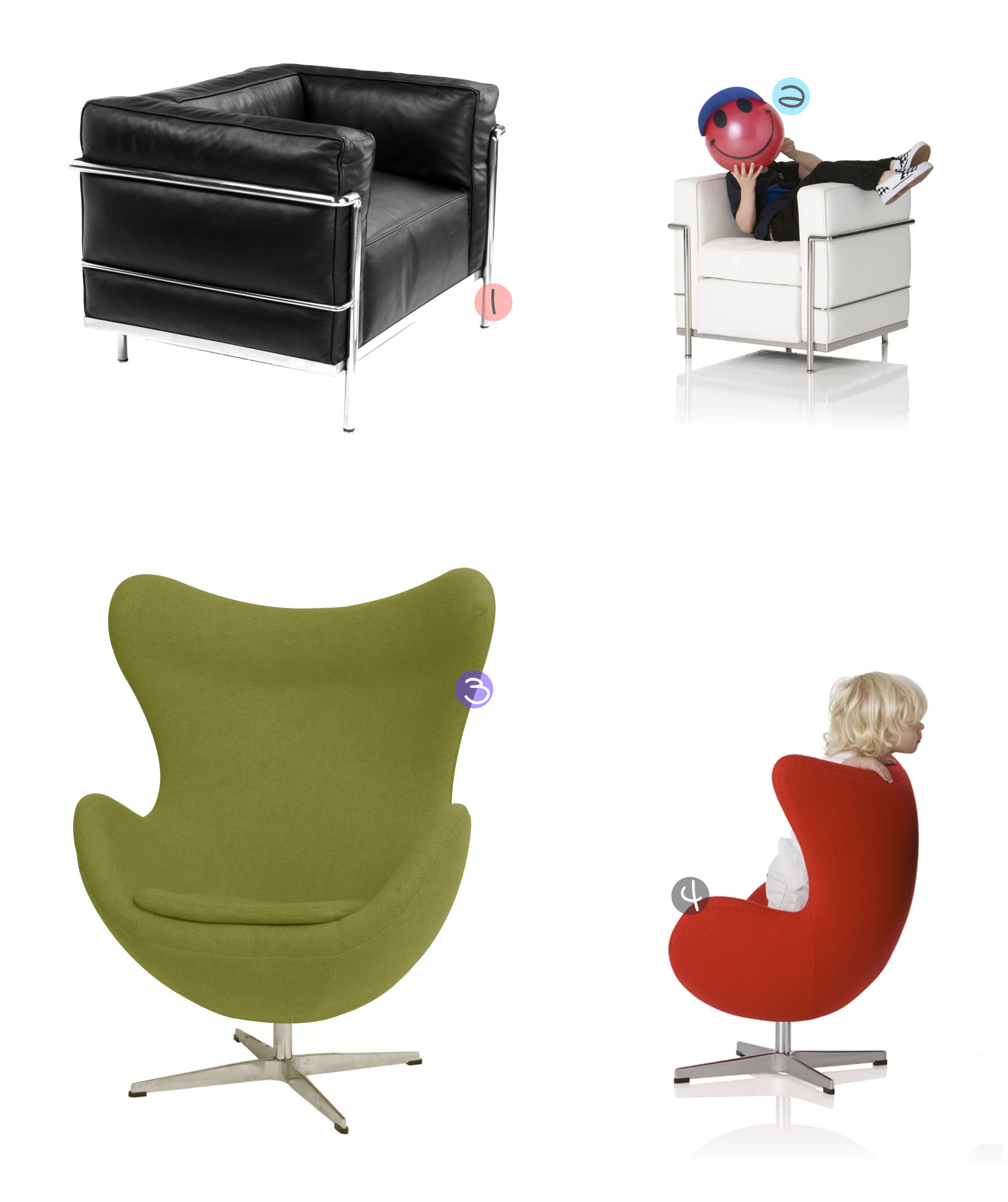 Mini Designer Chairs