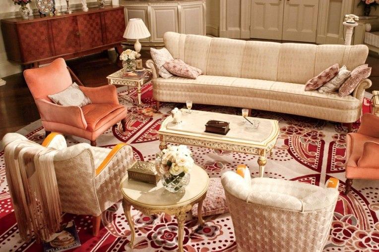 the great gatsby film set daisy buchanan sitting room