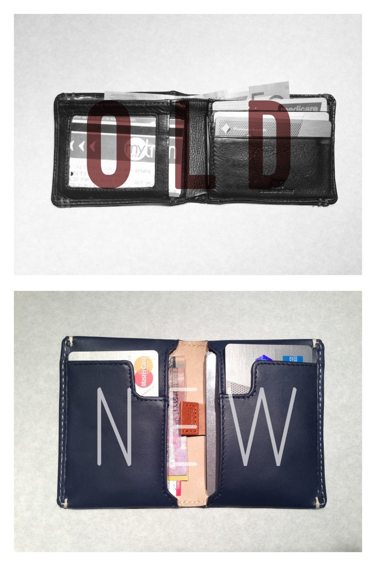 new and old Wallet Comparison