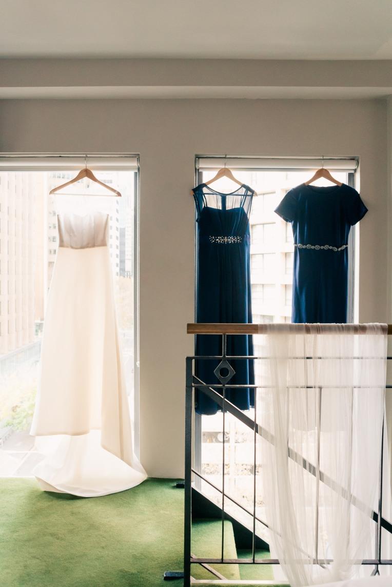wedding gown bridesmaids dress