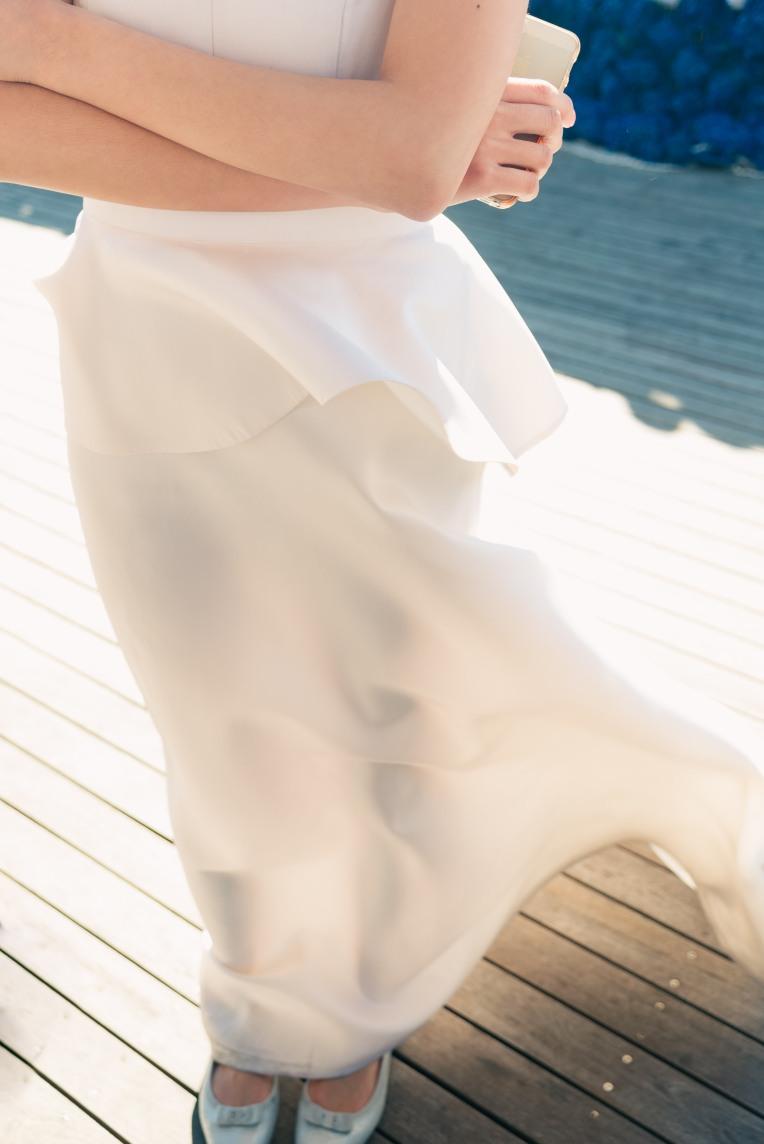 peplum on wedding dress