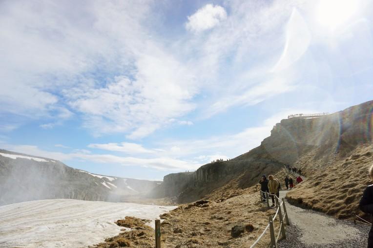 Iceland Waterfall scene