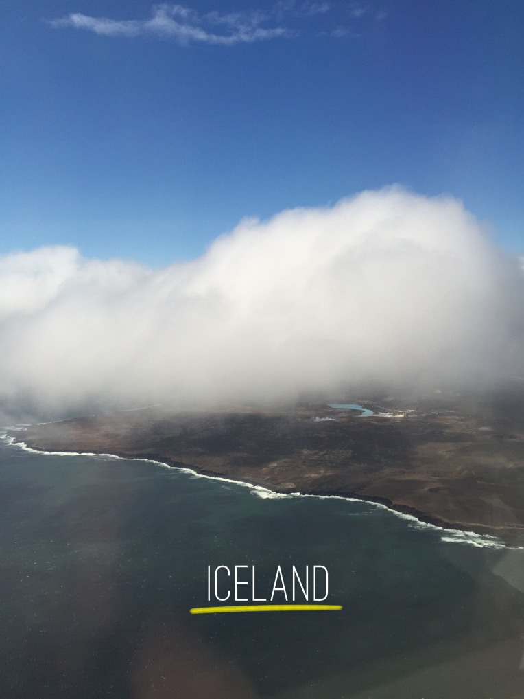 Iceland view from plane before landing